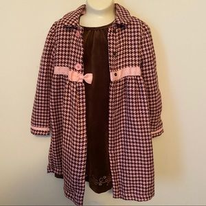 Holiday Editions matching dress and coat. 5T